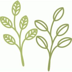 Silhouette Design Store - View Design #75677: spring leaf twigs