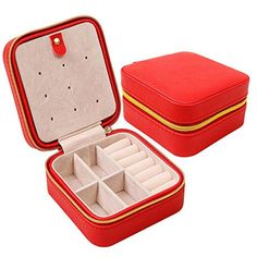 HOYOFO PU Leather Small Travel Jewelry Organizer BoxRed *** Be sure to check out this awesome product.