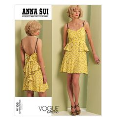 Vogue Patterns American Designer Anna Sui V1105 by ThePatternShopp