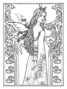 Pin by Angel Hardy on Color Pages ~ Fairies, Angels, Mermaids ...