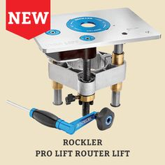 Rockler Pro Lift Router Lift Raise your router fast with the Quick-Gear, then down-shift to the precision gear for fine adjustments—Snap-Lock insert ring for easy bit changes. Fits Rockler and Bench Dog router tables.
