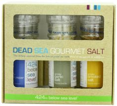 Salt 424 Three Grinder Pack 100% Organic Salts, Black Pepper, Garlic and Smoked, 25.11 Ounce
