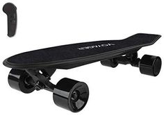 Light quick and easy to carry the Neutrino can reach speeds of 125 MPH and can travel up to 7 miles per charge Weighing in at a mere 95 pounds the… Skateboards For Sale, Cruiser Skateboards, Skateboard Helmet, Electric Skateboard, Bamboo Decking, Bluetooth Remote, Electric Motor, Compact, Range