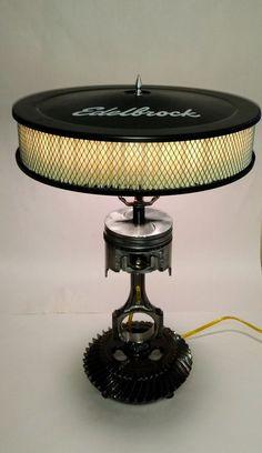 Piston Lamp by ManCaveMetal on Etsy