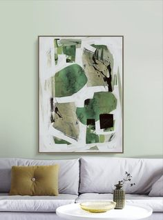 Canvas Painting – Modern Abstract Art Wall Painting for Living Room Bedroom Fice Hotels Drawing Room X Green Wall Art, Green Art, Large Canvas Art, Canvas Wall Art, Modern Art Pictures, Download Art, Modern Art Prints, Living Room Art, Minimalist Art