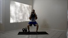 2 Hand Kettlebell Clean Thruster.  Visit http://strength.stack52.com/periodic-table-of-kettlebell-exercises/ for 100 + free kettlebell exercises!