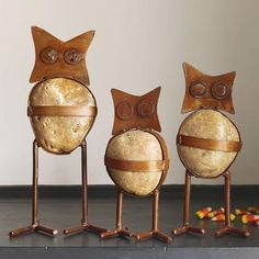 Stone Owls for the garden