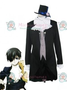 Hot sell new Black Butler Kuroshitsuji Finnian Cosplay Costume Free Shipping