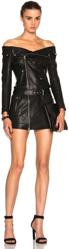 Faith Connexion Sailor Dress, black, schwarz, Leder Outfits, Ledermode, Leather, Fashion, Dress