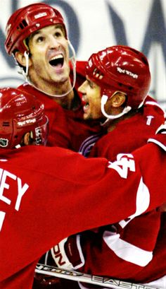 Shanahan and Yzerman, Detroit Red Wings