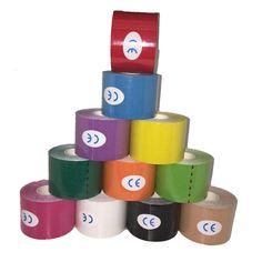 Sport Bandage Physio Spierspanning Letsel Ondersteuning Sport Tape Kinesiologie Spieren Care Strap Sticker 5 M * 5 CM 1 stks Gewicht 80g