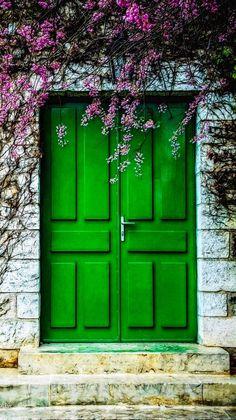 Porte d'entrée de la maison du célèbre peintre Claude Monet - Giverny, Eure, France