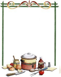 dibujos para recetarios - Buscar con Google Printable Recipe Cards, Printable Paper, Food Border, Homemade Recipe Books, Family Recipe Book, Recipe Scrapbook, Recipe Binders, Borders For Paper, Food Backgrounds