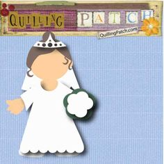 Free Bride Paperdoll Cutting File for Digital Cutter in GSD WPC KNK and SVG format for Cricut, Silhouette, Craft Robo etc