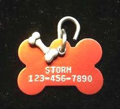 Pet ID Tag - Dog Tag - Personalized Dog/Pet Tag - Custom ID Tag - Pet Accessories on Etsy, $7.50