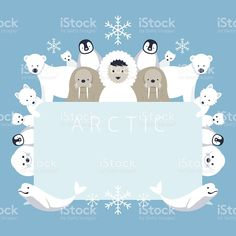 Arctic Frame, Animals, People royalty-free stock vector art