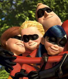 The Incredibles.  I wish I had had elastic arms when my girls were small.