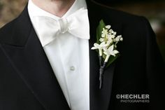 The groom was adorned with a simple boutonniere with Lily of the Valley. Designed by @xquisiteflowers, read more about this wedding on our blog - http://xquisitevents.com/2015/03/before-after-a-bamboo-oasis-garden-wedding-in-westchester/