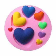 Circle Love Hearts Silicone Mold