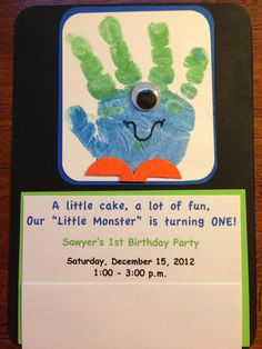 Monster Birthday Invitations  Idea: fun galore, turning four