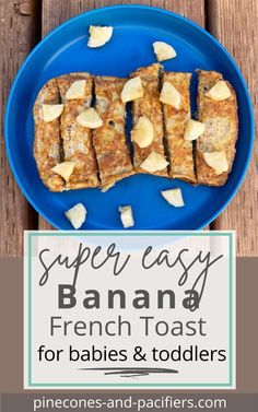 A quick and easy breakfast idea with simple ingredients for babies and toddlers. Banana French toast is great for baby-led weaning and picky toddlers! #blw #kidrecipe #kidfood Easy Toddler Meals, Easy Meals For Kids, Toddler Food, Meals For One, Kids Meals, Baby Weaning, Led Weaning, Meal Ideas, Food Ideas