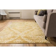 Shop for Well Woven Bright Trendy Twist Damask Linen Gold Air Twisted Polypropylene Rug (7'10 x 10'6). Get free shipping at Overstock.com - Your Online Home Decor Outlet Store! Get 5% in rewards with Club O! - 17116997