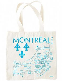 Maptote - Montreal grocery tote