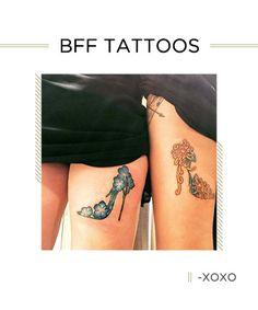 BFF Tattoos: High on Heels