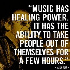 elton john says music heals and i believe that sincerely The Power Of Music, Music Is My Escape, Music Is Life, Lyric Quotes, Me Quotes, Aerosmith Quotes, Concert Quotes, Qoutes, Advice Quotes