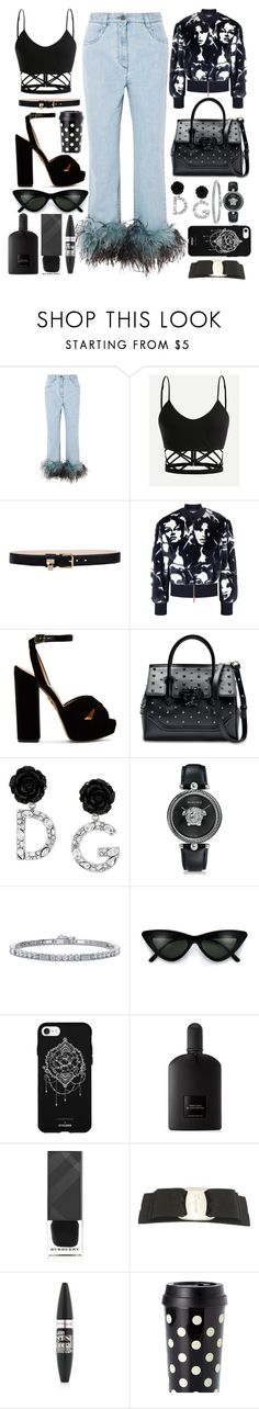 """""""My Prada Has Feathers"""" by pulseofthematter ❤ liked on Polyvore featuring Prada, Dolce&Gabbana, STELLA McCARTNEY, Charlotte Olympia, Versace, BERRICLE, Fifth & Ninth, Tom Ford, Burberry and Salvatore Ferragamo"""