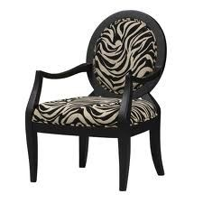 zebra print French arm chair - love the modern take on a classic chair! Savanna Arm Chair from the Linon event at Joss and Main!