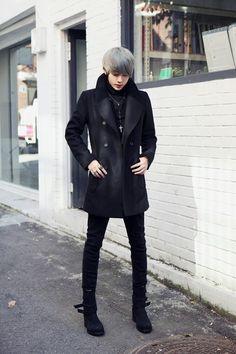 Corporate Goth: — mermaidunderthemoon: modern goth winter fashion