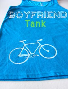 Boyfriend tank -- because sometimes our men need a little crafting, too. ;)