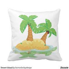 Desert Island Throw Pillows