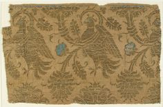 Textile, 14th century, Lucca, Italy, Silk and metal thread
