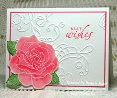 5/31/2012 Bonnie at 'Stamping with Klass' blog; Watercolor Roses with Fifth Avenue Floral stamp; I always loved this stamp! + other SU products; with link for a video tutorial