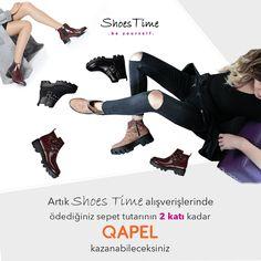 » Shoes Time QAPEL'de! » Shoes Time alışverişlerinde, ödediğin tutarın 2 KATI kadar QAPEL kazan. » Detaylar için tıkla → https://www.qapel.com.tr/businessPartner » Hemen alışverişe başla, Qapel'leri topla. #Qapel #ShoesTime #AlışverişYapKazan