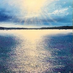 .Sunshines over Mylor. Day 269 - Acrylic on Canvas