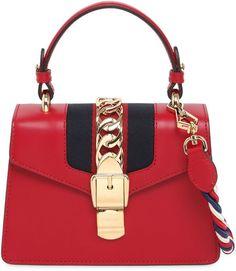 Mini Sylvie Leather Shoulder Bag