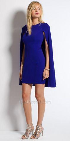 Jersey Cape Cocktail Dress By Camille La Vie #edressme
