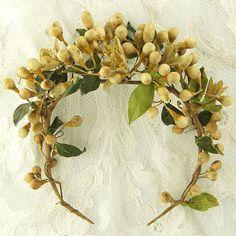 Antique Wedding Wax Flower Tiara