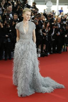 "Naomi Watts in an Elie Saab gown and Bulgari jewelry at the Cannes Film Festival premiere of ""La Tête Haute."" (Photo: Joel Ryan/Invision, via Associated Press)"