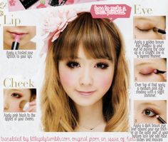 Requested Lolita Makeup Tutorial from an Issue of Kera.