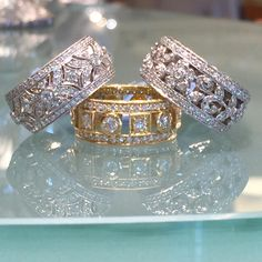 We're loving these Penny Preville diamond bands. Stop in today.  #WeddingBandWeekend