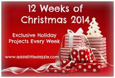 Looking for Unique Christmas Ideas? Join our free 12 Weeks of Christmas Newsletter at http://www.addalittledazzle.com/ideas-for-diy-christmas-cards/