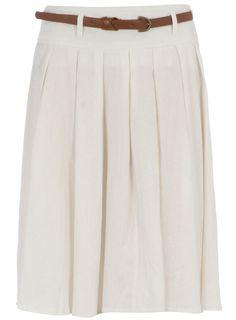 DOROTHY PERKINS SS12  White linen full skirt  £23,00  Color: blanco  Ref. 1424402