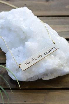 The Mountains Are Calling Bar Necklace