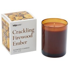 Indigo Scents Signature Scented Candle- Crackling Firewood Ember ($14) ❤ liked on Polyvore featuring home, home decor, candles & candleholders, candles, fall candles, fall scented candles, firewood candle, scented candles and autumn candles