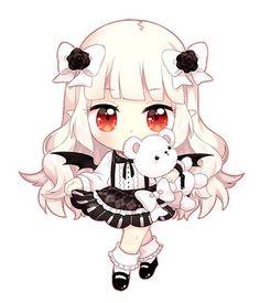 Chibi vampire avec nounours