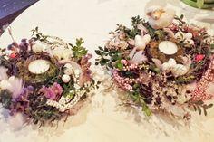 Swieczniki gniazdka ☺ piekna dekoracja wielkanocna